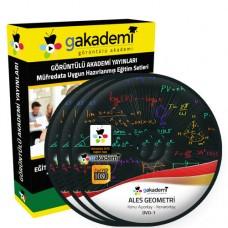 ALES Geometri Çözümlü Soru Bankası Eğitim Seti 16 DVD