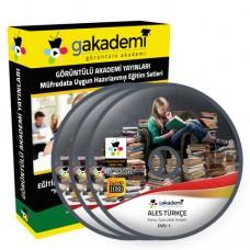 ALES Türkçe Çözümlü Soru Bankası Eğitim Seti 6 DVD