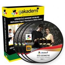 DGS Geometri Çözümlü Soru Bankası Eğitim Seti 16 DVD