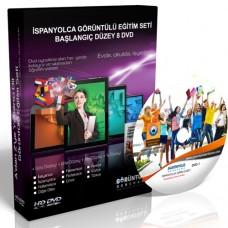 İspanyolca Görüntülü Eğitim Seti Başlangıç Düzey 8 DVD