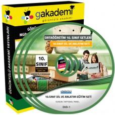 10.Sınıf Dil ve Anlatım Görüntülü Eğitim Seti 8 DVD