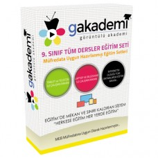 Lise 9.Sınıf Tüm Dersler Görüntülü Eğitim Seti 72 DVD