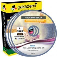 TEOG 8. Sınıf Türkçe Görüntülü Eğitim Seti 8 DVD