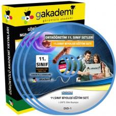 11.Sınıf Biyoloji Görüntülü Eğitim Seti 5 DVD