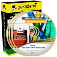TEOG 8.Sınıf Fen ve Teknoloji Görüntülü Eğitim Seti 8 DVD