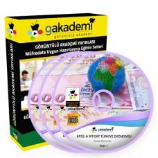 KPSS A İktisat Türkiye Ekonomisi Eğitim Seti 2 DVD