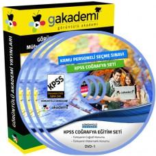 KPSS Coğrafya Görüntülü Eğitim Seti 17 DVD