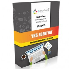 YKS Edebiyat Görüntülü Eğitim Seti 10 DVD