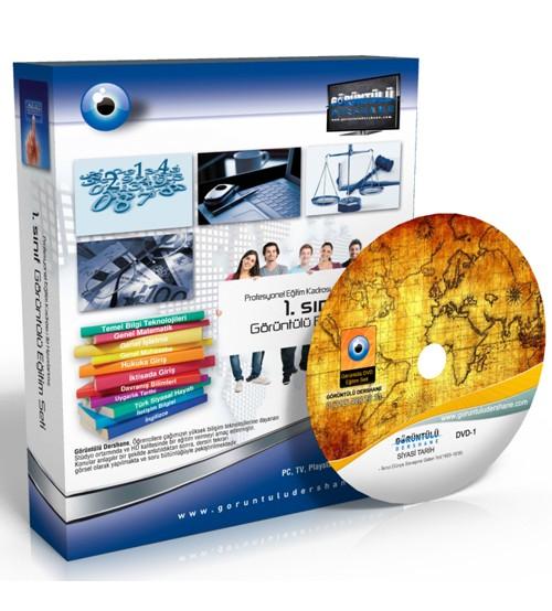 AÖF Siyasi Tarih Çözümlü Soru Bankası 8 DVD