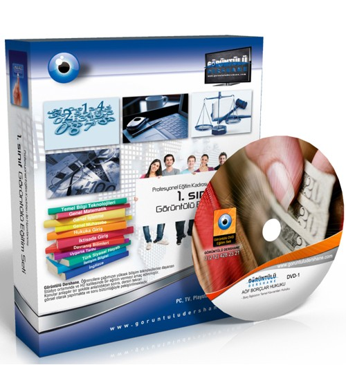 AÖF Borçlar Hukuku Çözümlü Soru Bankası 8 DVD