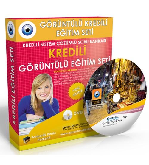 AÖF Küresel Pazarlama Çözümlü Soru Bankası 6 DVD