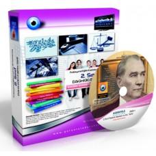 AÖF 2. Sınıf Atatürk İlkeleri ve İnkılap Tarihi 1 Eğitim Seti 9 DVD  + Rehberlik Kitabı