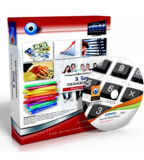 AÖF Maliyet Muhasebesi Görüntülü Eğitim Seti 10 DVD + Rehberlik Kitabı