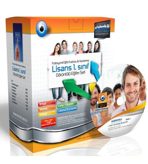 Açıköğretim Kamu Yönetimi 1. Sınıf 1. Dönem Tüm Dersler Görüntülü Eğitim Seti