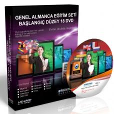 Genel Almanca Görüntülü Eğitim Seti Başlangıç Düzey (A1 + A2) 18 DVD
