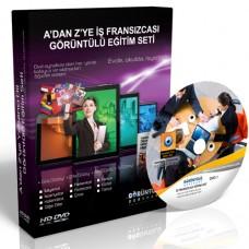 A'dan Z'ye İş Fransızcası Görüntülü Eğitim Seti 8 DVD