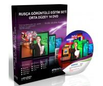 Rusça Eğitim Seti Orta Düzey Türkçe Anlatım 14 DVD