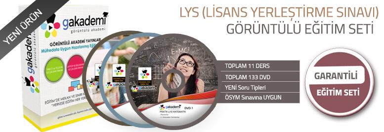 LYS Hazırlık Görüntülü Eğitim Seti Tüm Dersler