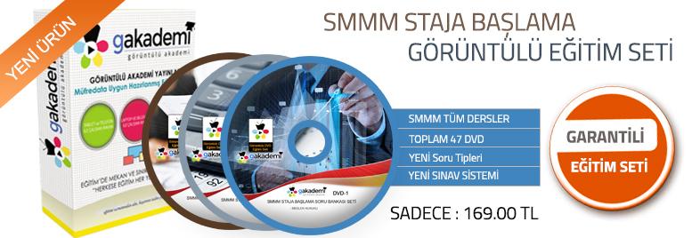 SMMM Staja Başlama Tüm Dersler Görüntülü Eğitim Seti